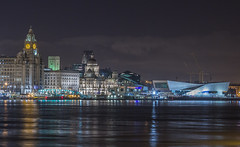 Liverpool Waterfront (SiKenyonImages) Tags: longexposure nightphotography liverpool waterfront threegraces mersey pierhead 70200mm liverbuilding liverpoolmuseum
