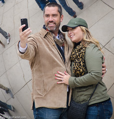 Selfies at the Bean (Jim Frazier) Tags: park autumn people chicago fall illinois october photographer bean tourists il cameras registered millenniumpark cloudgate phones cellphones selfie 2015 jimfraziercom selfiesticks 20151003chicago selfiesatthebean