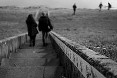 Way down (stefankamert) Tags: people blackandwhite monochrome blackwhite dof dam sony blurred fullframe a7 staudamm stonestaircase schwarzweis waydown mirrorless ilce7 sel55f18z fe55mmf18za stefankamert