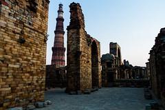 Qutub Minar (Nomadic Photographer) Tags: new travel architecture ancient ruins delhi wanderlust spire qutub minar newdelhi qutubminar