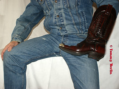 self2895 (Tommy Berlin) Tags: men jeans levis jeansjacket 501 cowboybutts