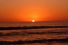 DAWN (R. D. SMITH) Tags: ocean sea sky orange sun nature water sunrise outside dawn wave atlanticocean canoncamera