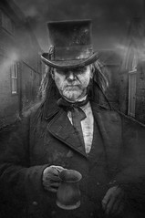 The Spirit of Jacob Marley (Graeme Andrews) Tags: portrait people monochrome composite pentax literature achristmascarol dickens ghostly compositephotography jacobmarley elements10