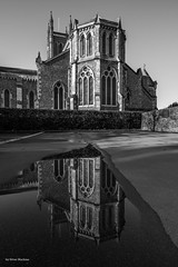 Reflection of St Marys (Silver Machine) Tags: bw reflection church monochrome mono blackwhite hampshire andover canoneos stmaryschurch canonefs1022mmf3545usm canon600d