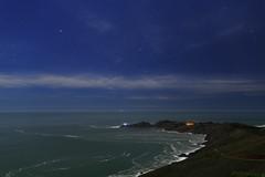 Orion above Point Bonita (fksr) Tags: california sky lighthouse night stars landscape coast pacificocean sirius orion rigel marincounty peninsula canismajor marinheadlands pointbonita aldebaran astrometrydotnet:status=failed astrometrydotnet:id=nova1452715