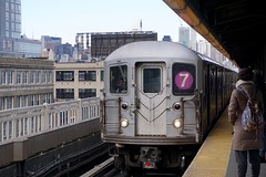 Take the '7' train to Flushing (Billy Kuan-yin Chen) Tags: nyc newyorkcity newyork subway queens lunarnewyear flushing