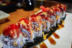 Spicy Beach Maki - Spicy Octopus, Avocado, Eel, Spicy Tuna - Volcano (sheryip) Tags: food beach sushi japanese volcano restaurant avocado maki foodporn octopus spicy eel tuna morgantown