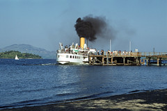 'Maid of the Loch' casting off from Luss Pier. May'80. (David Christie 14) Tags: lochlomond luss maidoftheloch