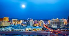 Moonrise Over Las Vegas (Srini Sundarrajan) Tags: vegas moon lasvegas nevada moonrise