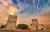 TOWERS OF BARZAN (Ziad Hunesh) Tags: sunset sky canon towers tokina qatar قطر آثار 650d برزان 1116mm zhunesh barazn