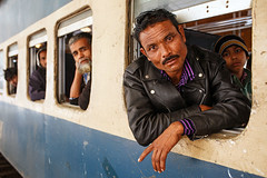 Train Passengers - Dhaka, Bangladesh (Maciej Dakowicz) Tags: city portrait station train railway passenger dhaka bangladesh kalampur