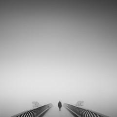 Negative space (vulture labs) Tags: bridge bw london fog