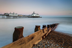 The Final Countdown (S l a w e k) Tags: uk longexposure travel sea england seascape beach pier seaside europe shingle victorian pebbles resort eastbourne groyne breakwater