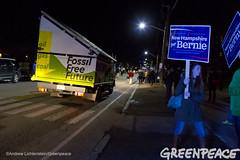 Rolling Sunlight Message (Greenpeace USA 2015) Tags: usa democracy durham newhampshire vote republican democrat keepitintheground