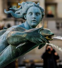 A Trafalgar Square Fountain Statue (Olympus OMD EM5II & mZuiko 75mm F1.8 Prime) (markdbaynham) Tags: city urban london westminster square prime capital trafalgar evil olympus metropolis f18 omd csc oly mz 75mm londoner londonist m43 zd mft mirrorless micro43 microfourthirds micro43rd mzuiko m43rd em5ii zuikolic