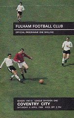 Fulham vs Coventry City - 1968 - Cover Page (The Sky Strikers) Tags: city one football official cottage division coventry fulham craven shilling league programme
