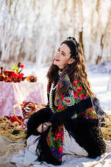happiness to be me (Viktoriya Isaeva) Tags: winter portrait woman beauty happy folk traditional flare gir russianstyle khokhloma