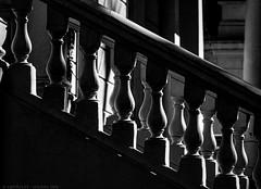 Posh stairs (Geza (aka Wilsing)) Tags: bw monochrome backlight stairs ballustrade