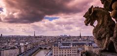 CSP_2095-HDR (Sharada Prasad) Tags: paris france towers notre dame chimera gorgoyle