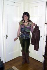 Floral Top and Green Pants (SecretJess) Tags: girl girly cd femme tgirl lgbt transvestite trans crossdresser crossdress gurl genderqueer tg effeminate genderfluid girlslikeus