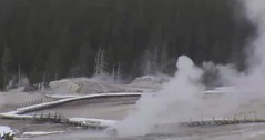 Beehive Geyser eruption (11:42-11:46 AM, 28 February 2016) (James St. John) Tags: volcano hill group basin upper yellowstone wyoming geyser eruptions erupt beehive eruption hotspot erupting erupts