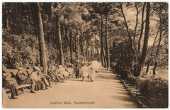 Bournemouth - Invalids' Walk (pepandtim) Tags: road old trees anne early 1930s walk postcard cliffs lincolnshire nostalgia nostalgic series whitehead avondale 1914 bournemouth aunty tintagel burgh meyrick invalids puddephatt carbonette 12021914 22pud34