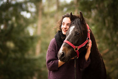 Trust and love (chemollicristina@rocketmail.com) Tags: friends horse cute love nature animal forest woods friendship trust blackhorse 85mm18 canon7d