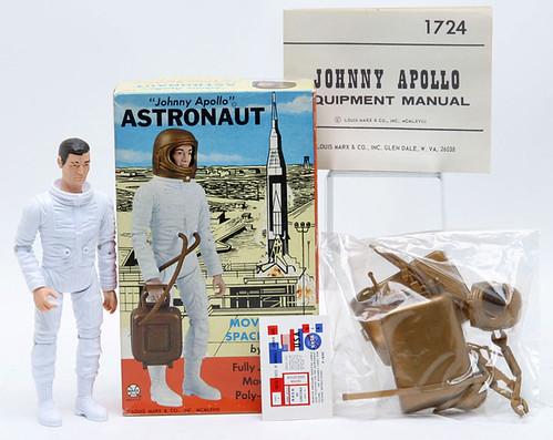 """Marx """"Johhny Apollo"""" Astronaut in Box ($121.00)"""