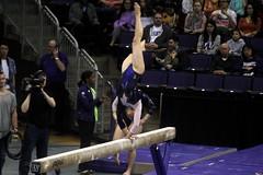 Allie Northey beam (1) (Susaluda) Tags: uw sports gold washington university purple huskies gymnastics dawgs