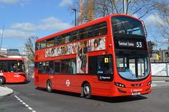 BG14 ONT (13022) Stagecoach London (hotspur_star) Tags: 53 londonbus londontransport tfl londonbuses transportforlondon doubledeck wrightbus hybridbus hybridtechnology stagecoachlondon 13022 bg14ont volvogemini3 londonbuses2016 busscene2016