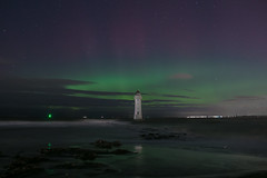 Northern Lights New Brighton (gmorriswk) Tags: seascape night landscape aurora northernlights wirral newbrighton rivermersey newbrightonlighthouse