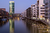 """Westhafen Tower """"Geripptes"""" - Frankfurt am Main - Germany (Marc Wildenhof) Tags: light reflection germany de deutschland licht hessen spiegelung westhafen westhafentower frankfurtammain nachtaufnahme langzeitbelichtung gerippte geripptes canoneos7dmarkii"""