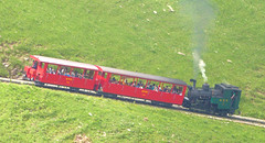 Brienz Rothorn Bahn - Locomotive No. 6 built by SLM in 1933 with two of the older coaches powers up the gradient towards the Summit on the 9th July 2012 (trained_4_life) Tags: switzerland brienz brb berneseoberland cograilway brienzrothornbahn rackrailway