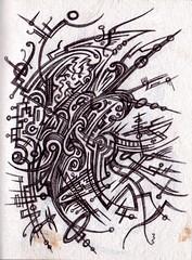Another Fine Mess (darksaga66) Tags: art doodle penandink inkart bookofink