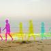 Beach walking couple (Harris Shutter Effect)