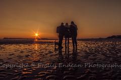#211 of 365 - friends - 130316 (Emily_Endean_Photography) Tags: sunset people orange sun coast boat sand nikon colours tide low dorset sillouette sandbanks