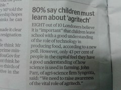 Big Ag Propaganda (London Permaculture) Tags: education agriculture eveningstandard poll syngenta agritech bigag
