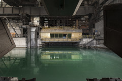 Quenching my thirst (Kriegaffe 9) Tags: reflection industry water metal industrial murky steelworks