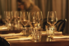 Whispers around the table (Irina1010) Tags: canon table restaurant glasses silverware bokeh atmosphere indoors napkins settings outstandingromanianphotographers