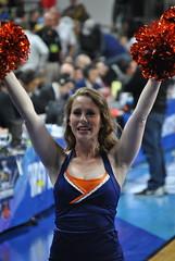 CAVALIER DANCER (SneakinDeacon) Tags: basketball cheerleaders providence tournament ncaa uva wahoos friars cavaliers bigeast hoos pncarena