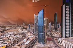 Kuwait - Ocean Of Dust (Sarah Al-Sayegh Photography | www.salsayegh.com) Tags: storm buildings photography sand nikon cityscape kuwait dust duststorm haboob leefilter leefilters nikond700 wwwsalsayeghcom sarahhalsayeghphotography infosalsayeghcom