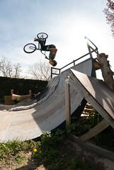 Backflip to fakie Alex au Monfort Yard (Trialxav) Tags: home alex yard bmx freestyle ride style tricks skatepark jeune monfort