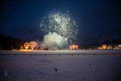 The big finale - Hot Air Balloon Glooming Arosa 2016 (SteffPicture) Tags: hot switzerland fireworks outdoor air ballon balloon nightshots nigth arosa feuerwerk heissluftballon graubnden glooming steffpicture