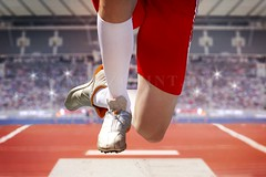 long jumper jump into sand box (mezzotint_de) Tags: man male stockings fly athletic jump jumping sand long legs action box outdoor stadium competition front compression jumper broad spikes jumps leaping frontside tartan trackandfield vaulting athleticsports spectatorterraces
