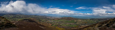Sugarloaf Panorama -From South and East to Kilcoole to West towards Glencree (kilgarron) Tags: panorama dublin clouds scenic greystones sugarloaf wicklow enniskerry bray cowicklow glencree irelannd