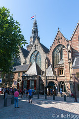 Entrance to Oudekerk (villeah) Tags: street people church netherlands amsterdam thenetherlands nl redlightdistrict attraction oudekerk northholland