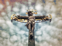 Crucifix on Charles Bridge (co photo gal) Tags: bridge statue religious republic christ cross czech prague god jesus charles praha lord christian holy most crucifix hebrew messiah sacrifice savior karlv 2015