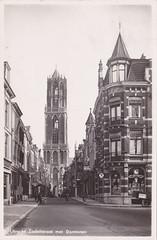 Ansichtkaart Utrecht Zadelstraat met Domtoren 1943_0001 (dickjan thuis) Tags: utrecht domtoren postcard 1943 zadelstraat ansichtkaart prentbriefkaart