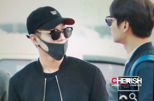 160401 SHINee (Sin Jonghyun) @ Aeropuerto de Incheon {Rumbo a Japón} 26214852776_0d0dab516f_z