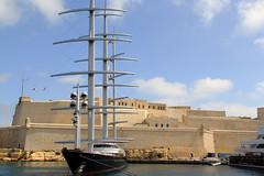 Maltese Falcon (North Ports) Tags: st marina waterfront harbour grand malta angelo valletta mmsi vitorriosa 249555000